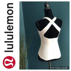 Lululemon white Wet Dry Warm Crossback Tank